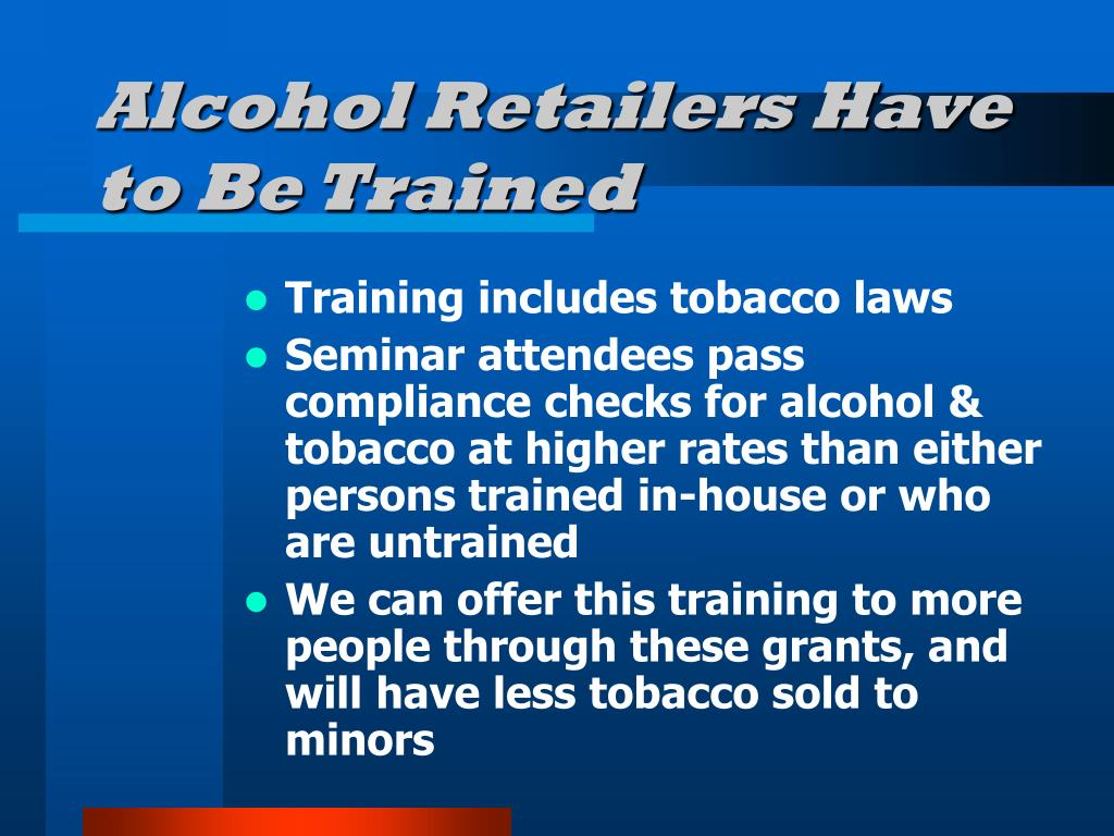 Alcohol Retailers Have to Be Trained