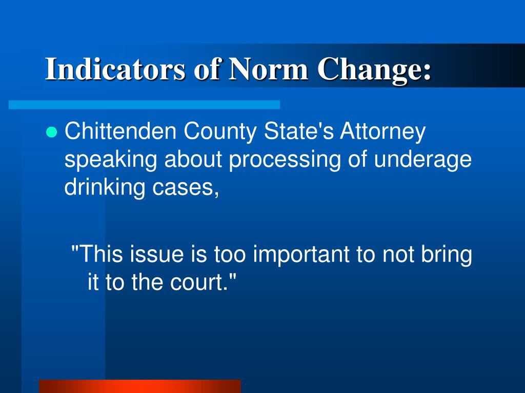Indicators of Norm Change: