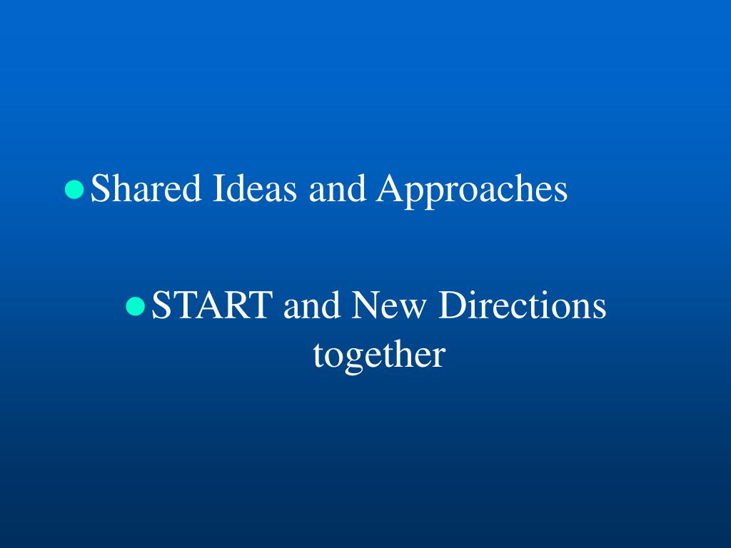 Shared Ideas and Approaches