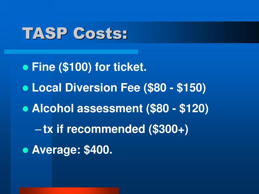 TASP Costs: