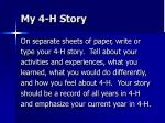 my 4 h story92