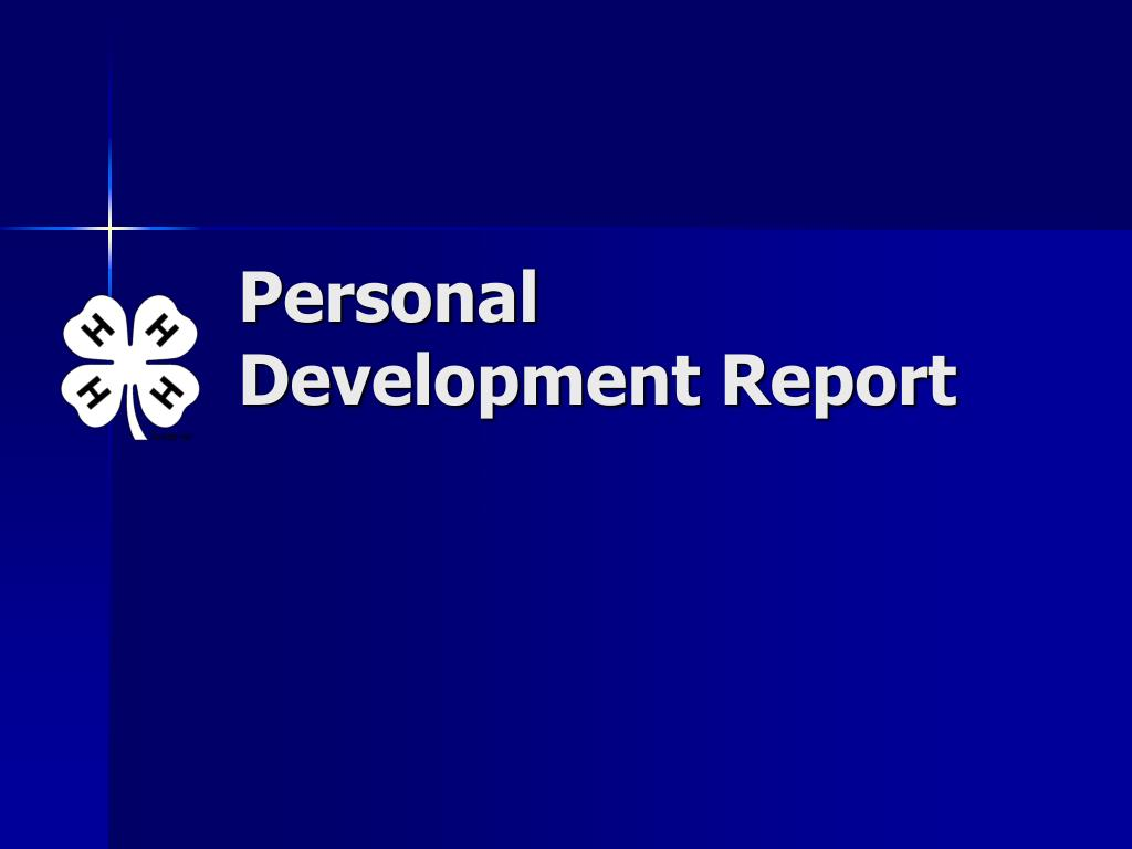 Personal Development Report