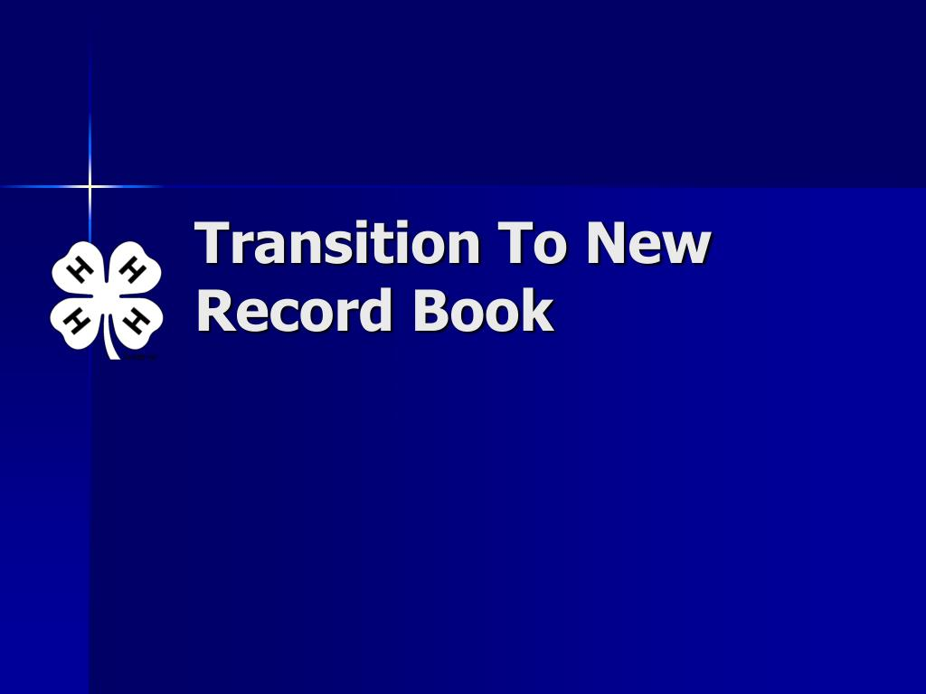 Transition To New Record Book