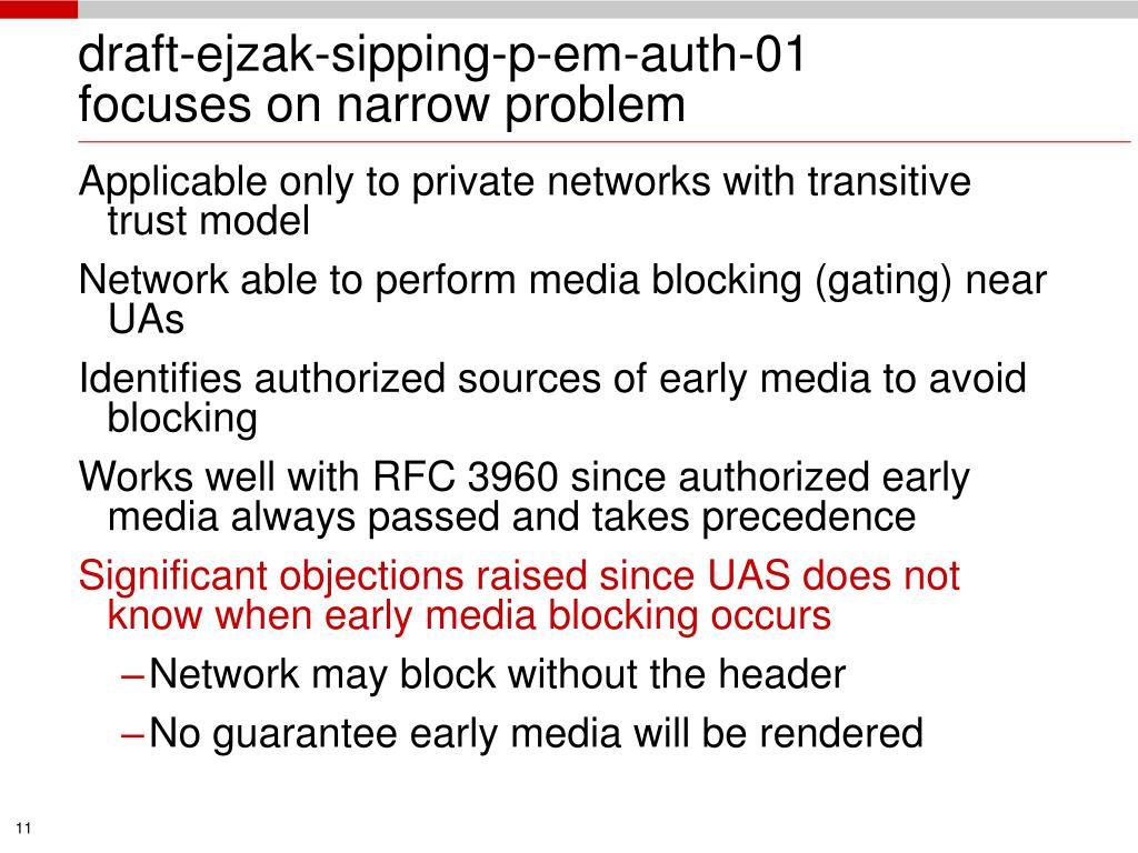 draft-ejzak-sipping-p-em-auth-01