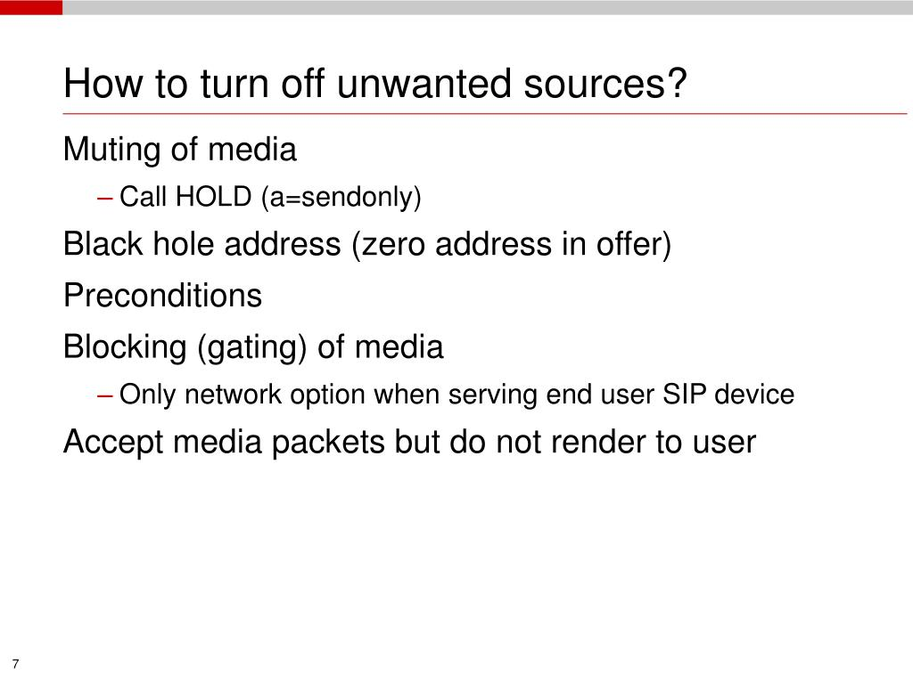 How to turn off unwanted sources?