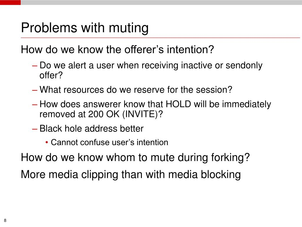 Problems with muting