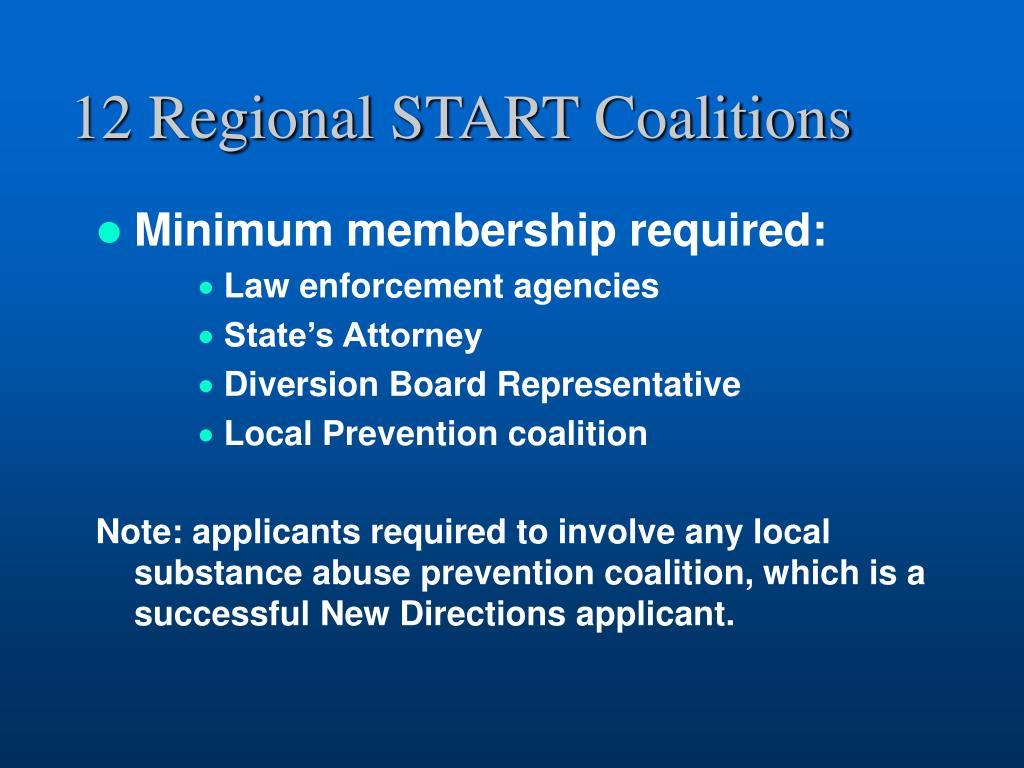 12 Regional START Coalitions