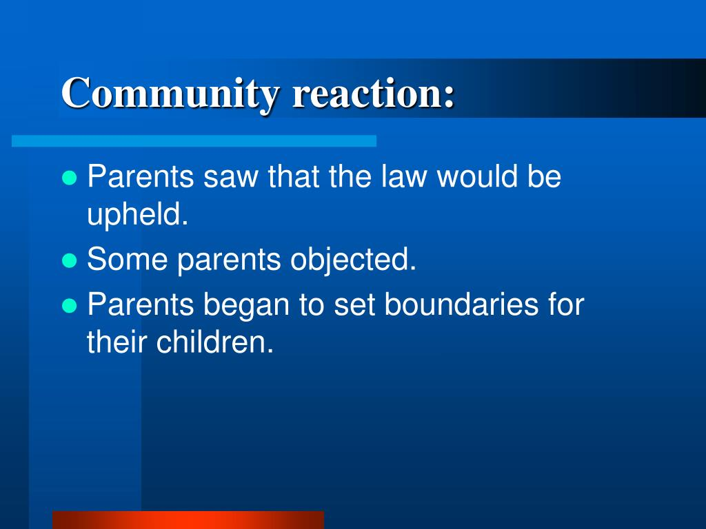 Community reaction: