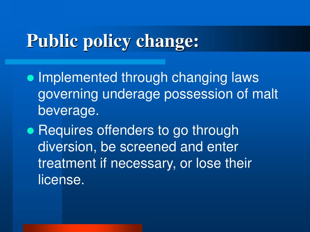 Public policy change: