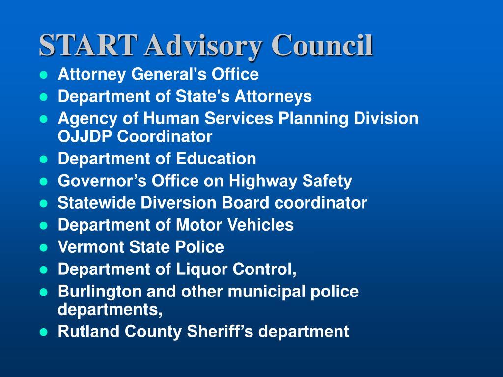 START Advisory Council