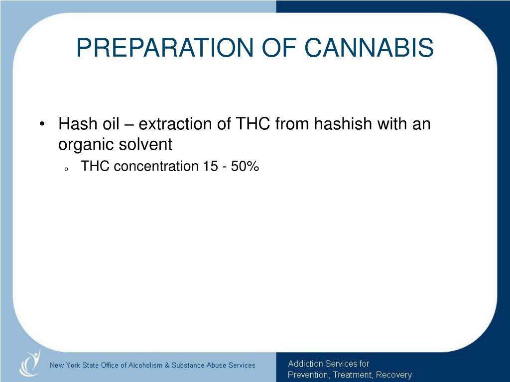 PREPARATION OF CANNABIS