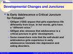 developmental changes and junctures40