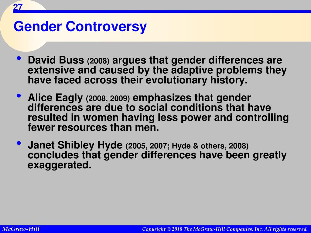 Gender Controversy