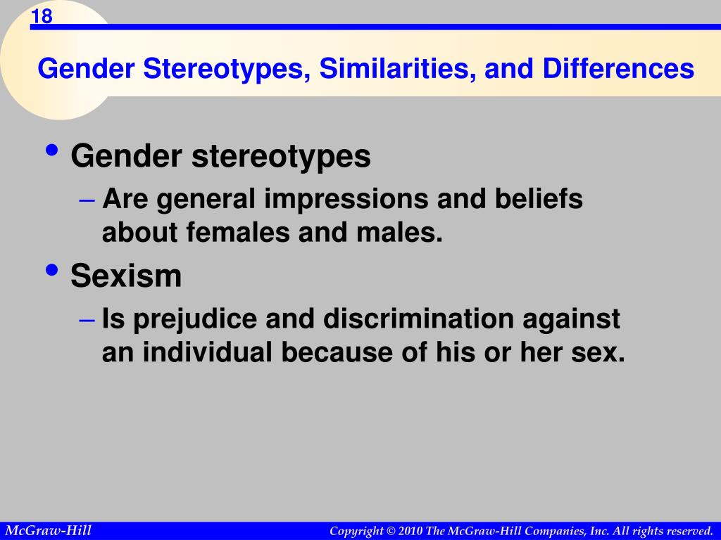 Gender Stereotypes, Similarities, and Differences
