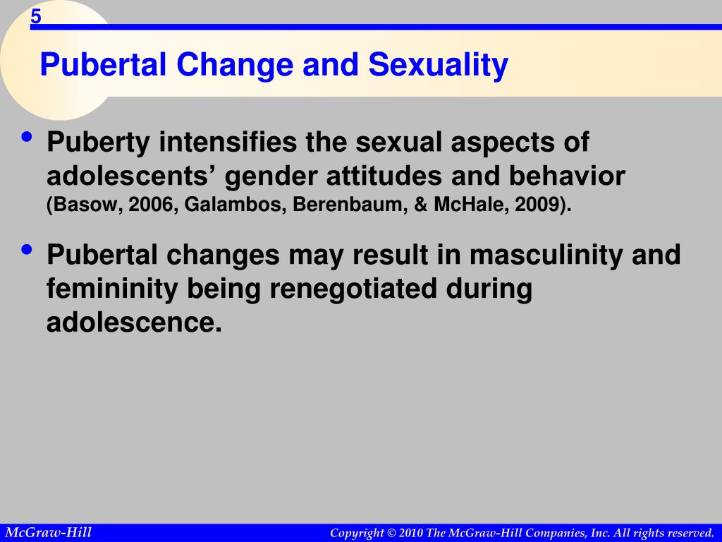 Pubertal Change and Sexuality