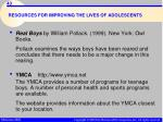 resources for improving the lives of adolescents43