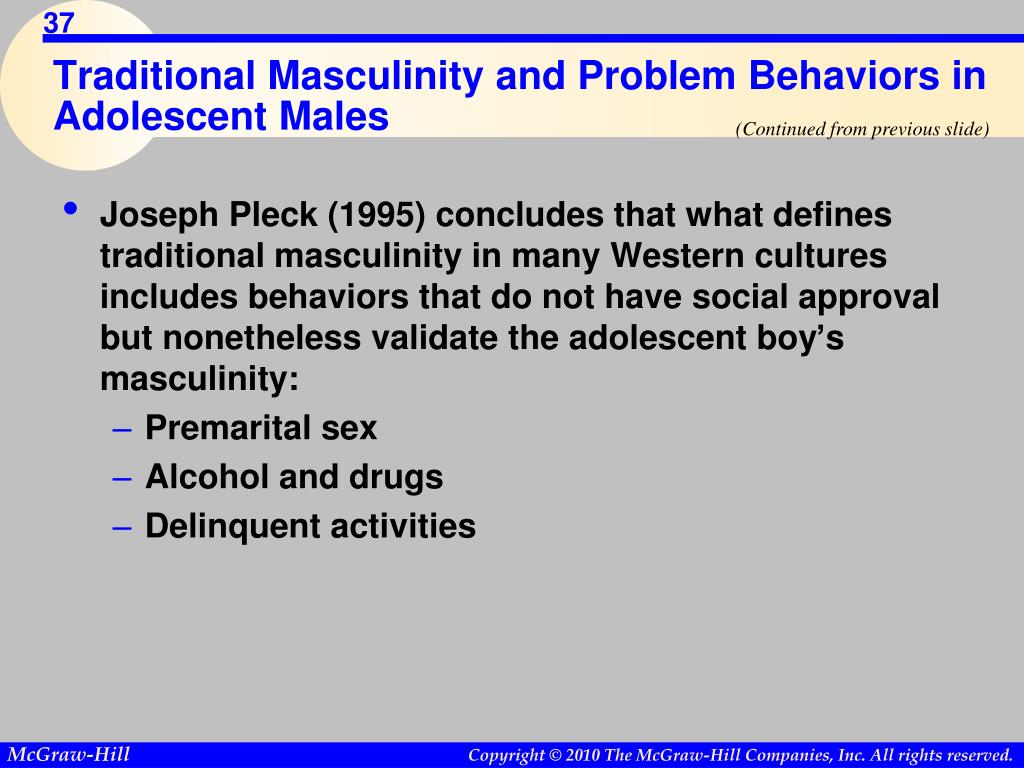 Traditional Masculinity and Problem Behaviors in Adolescent Males