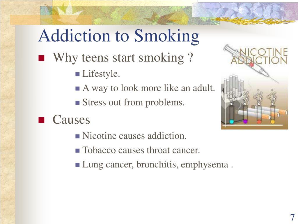 Addiction to Smoking
