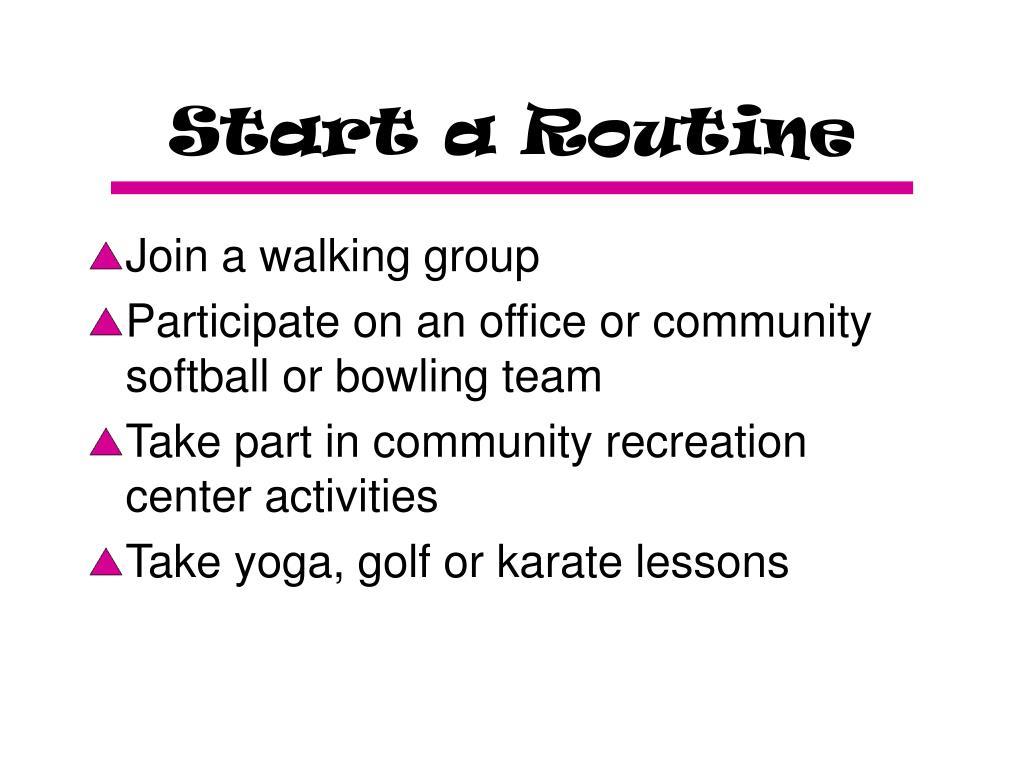 Start a Routine