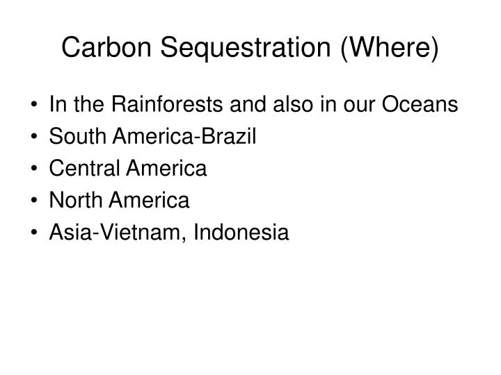 Carbon Sequestration (Where)