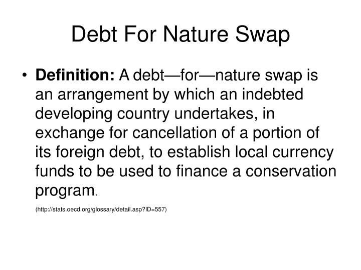 Debt For Nature Swap