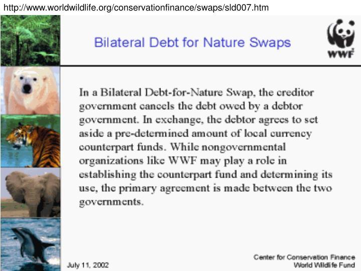 http://www.worldwildlife.org/conservationfinance/swaps/sld007.htm