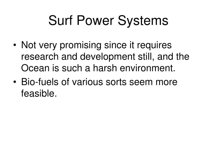 Surf Power Systems