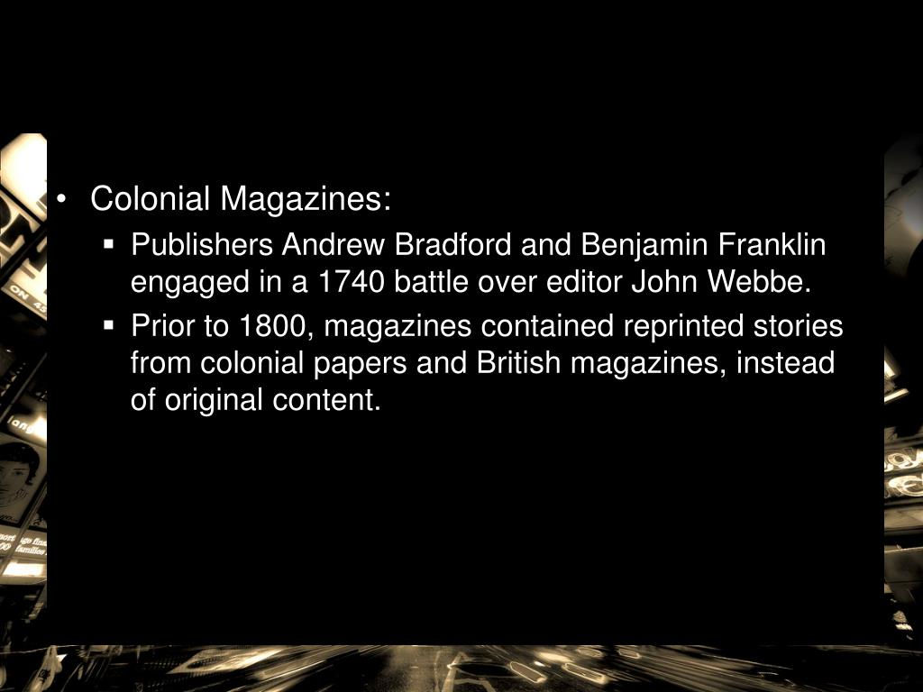Colonial Magazines: