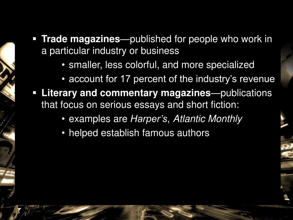 Trade magazines