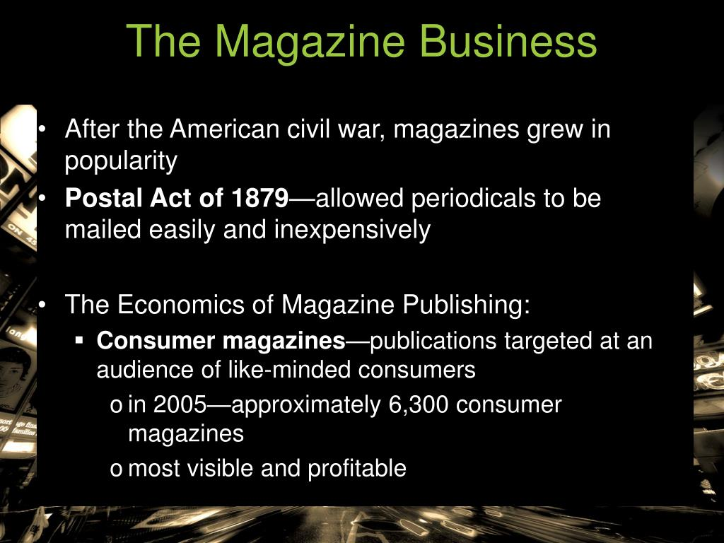 The Magazine Business