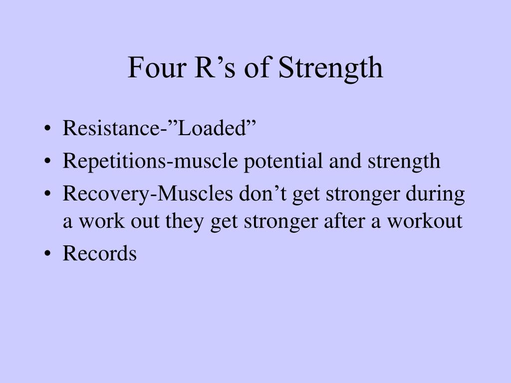 Four R's of Strength