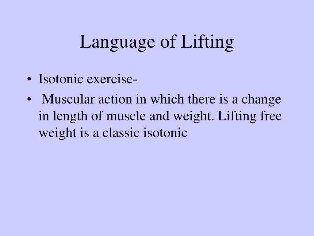 Language of Lifting