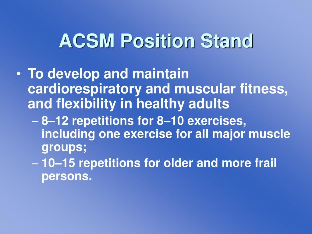 ACSM Position Stand