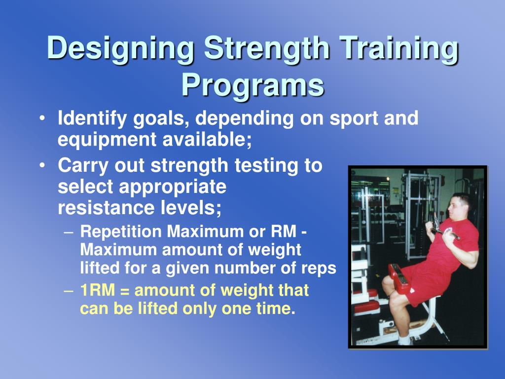 Designing Strength Training Programs