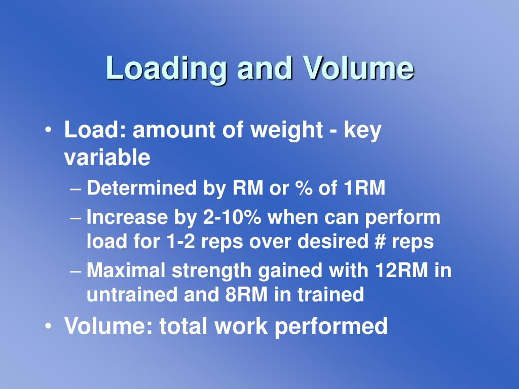 Loading and Volume