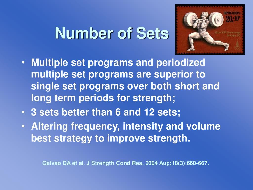Number of Sets