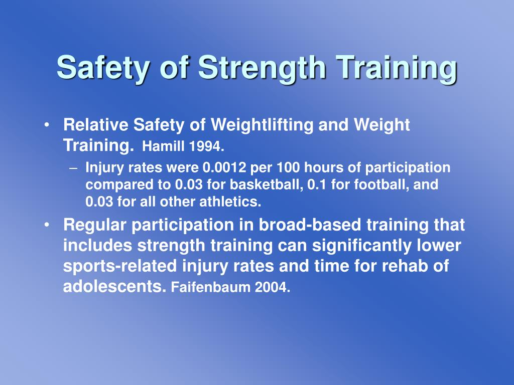 Safety of Strength Training