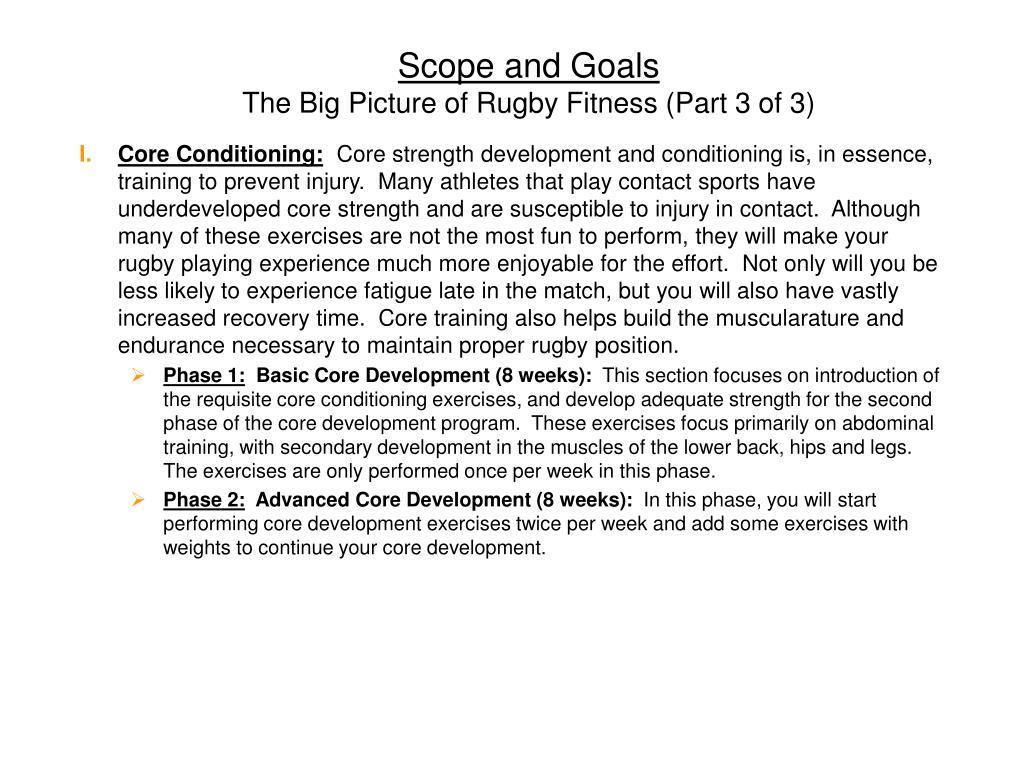 Scope and Goals