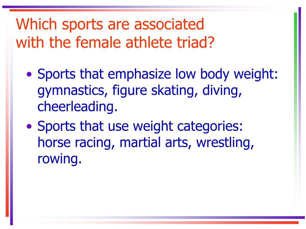 Which sports are associated