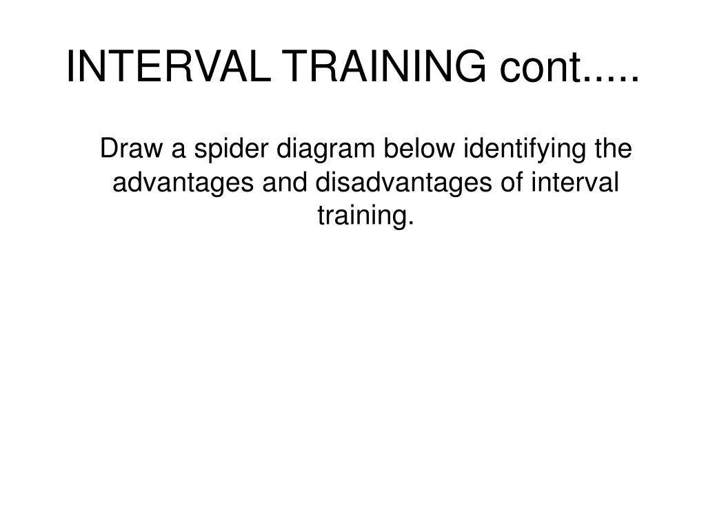 INTERVAL TRAINING cont.....