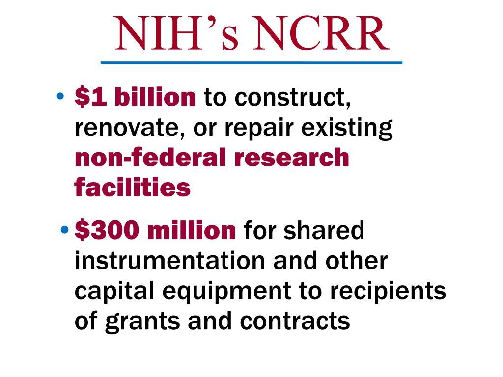 NIH's NCRR