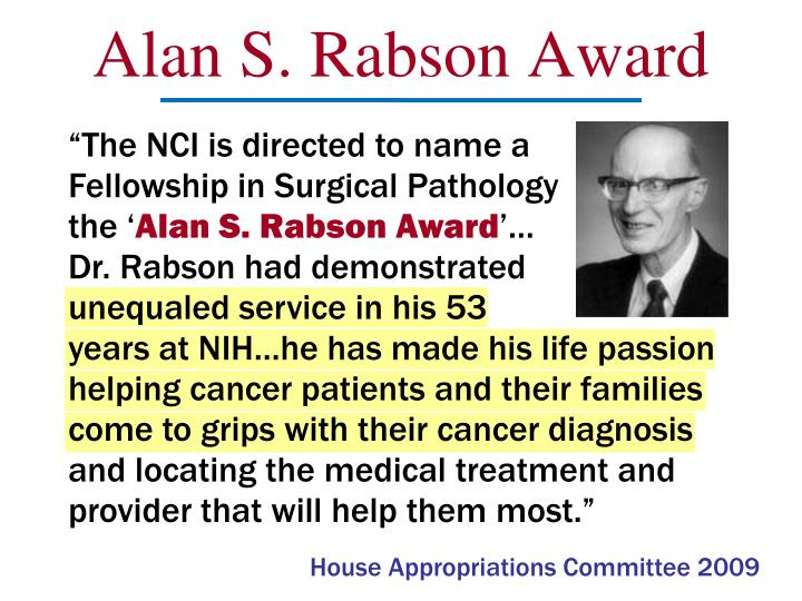 Alan S. Rabson Award