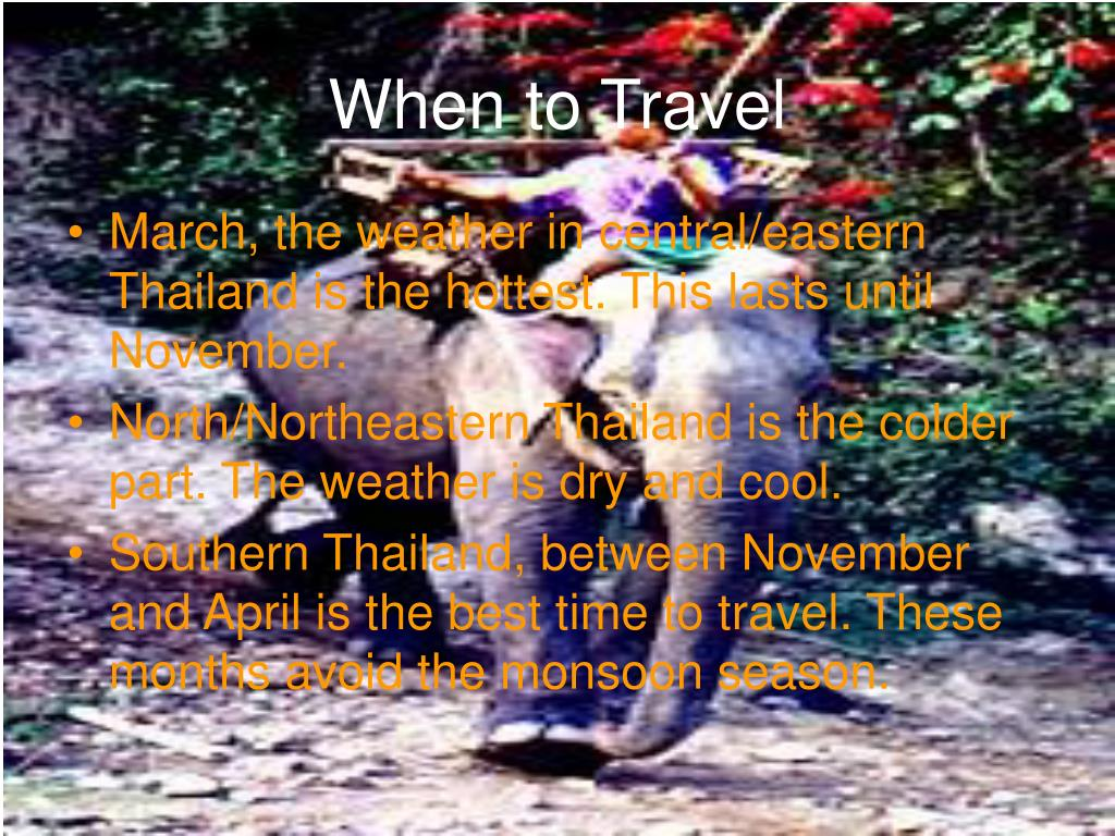 When to Travel