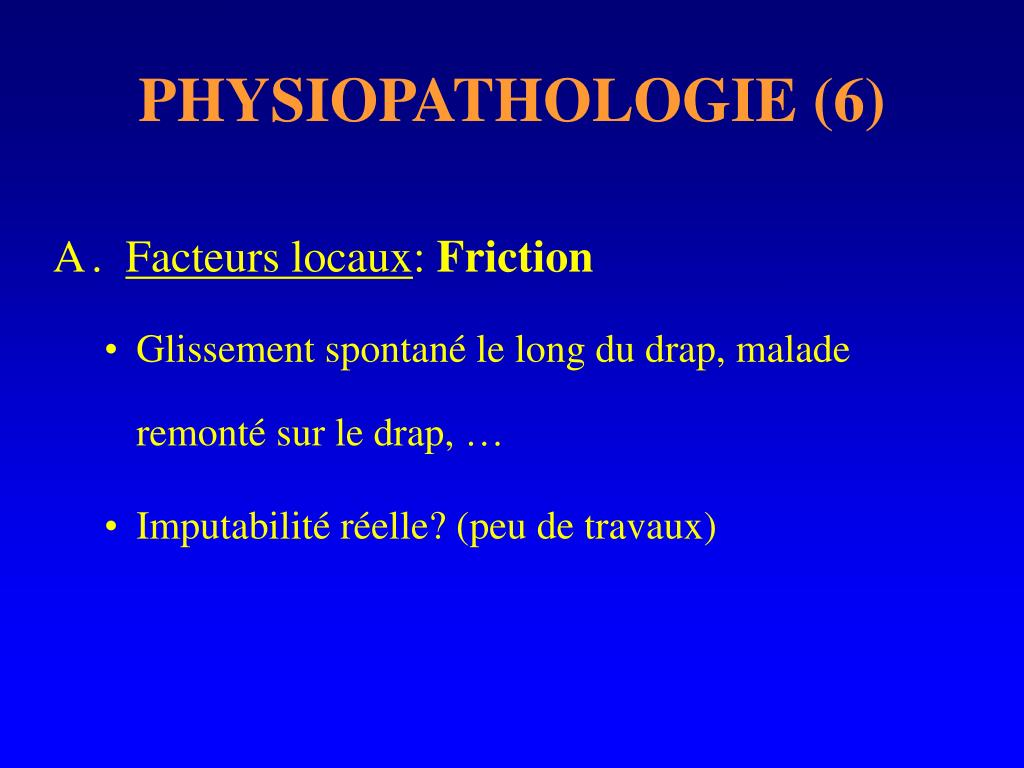 PHYSIOPATHOLOGIE (6)