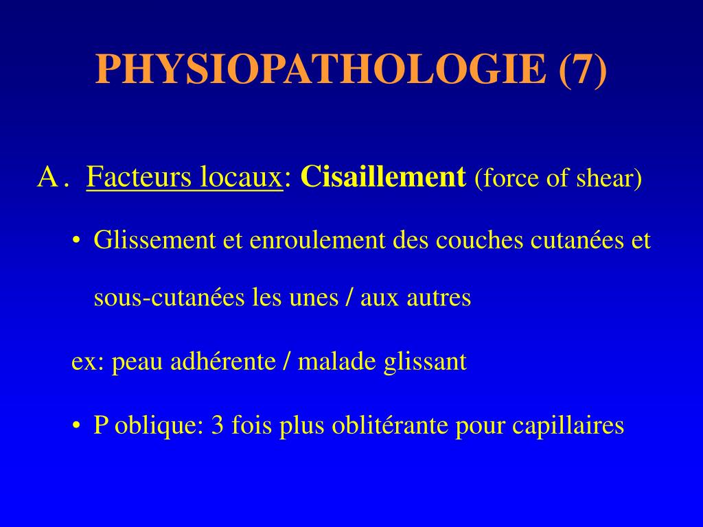 PHYSIOPATHOLOGIE (7)