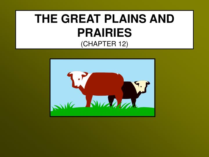 The great plains and prairies chapter 12 l.jpg