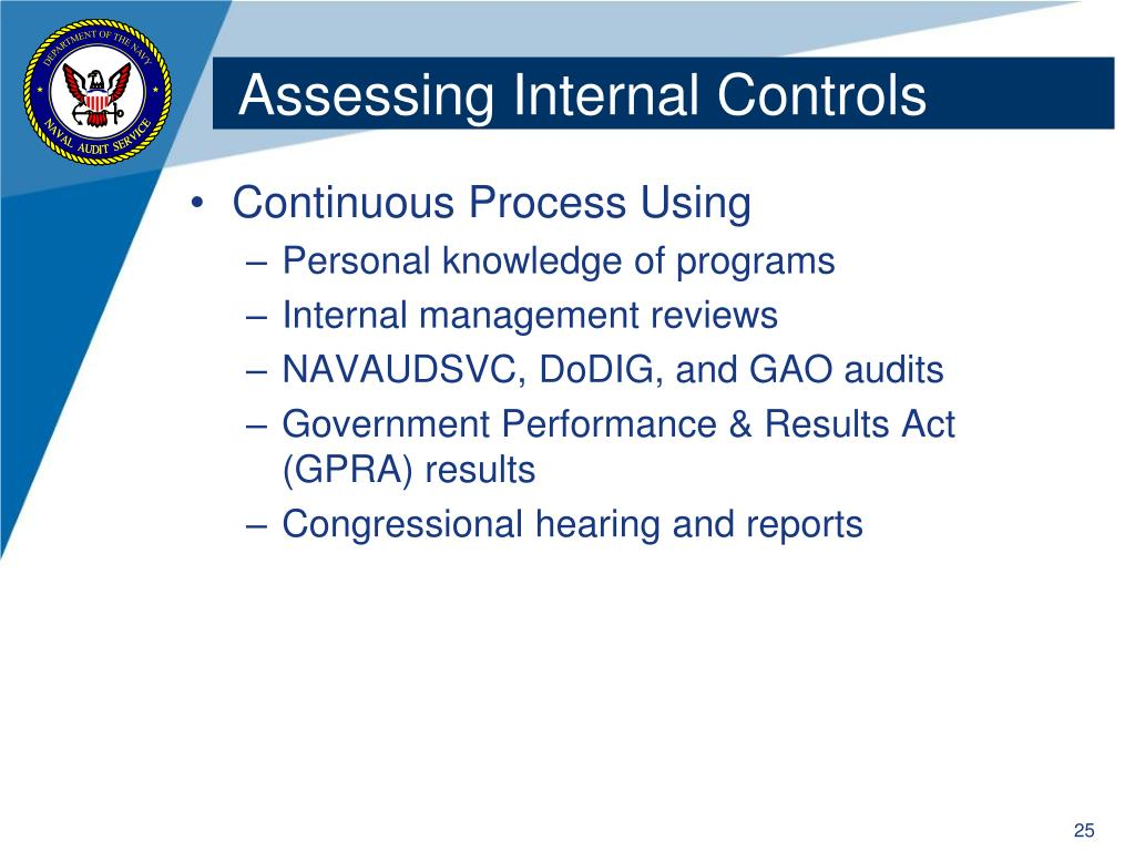 Assessing Internal Controls