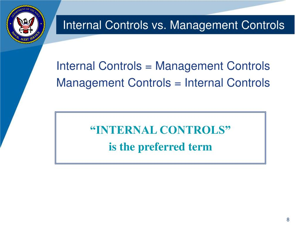 Internal Controls vs. Management Controls