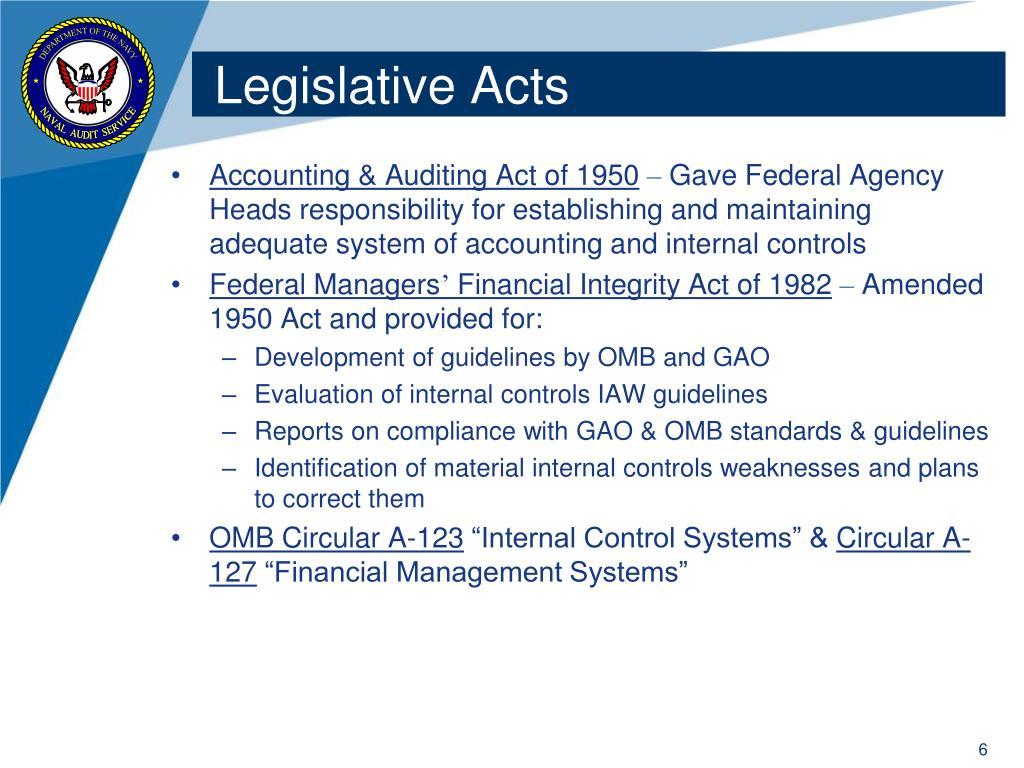 Legislative Acts