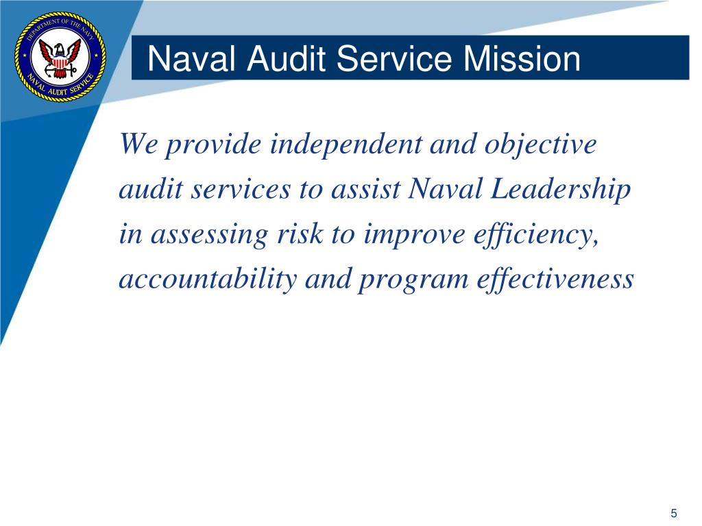 Naval Audit Service Mission